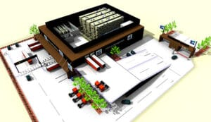 Logistics strategy plant area planning 3D