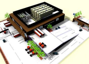 Plant structure planning logistics center